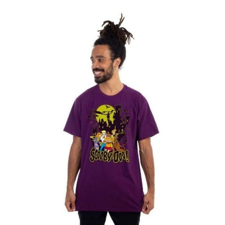 Camiseta Turma Scooby Doo Roxa - Piticas P