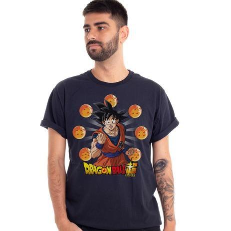 Camiseta Goku Dragon Ball Esferas do Dragão - Piticas M