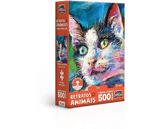 Retratos Animais – Gato – Quebra-cabeça – 500 peças nano