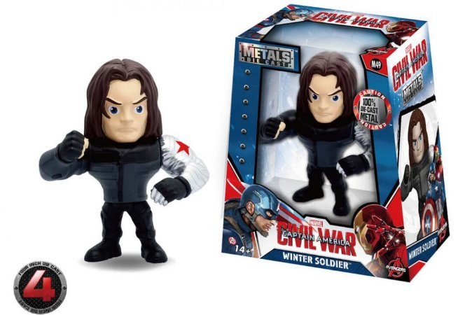 "METALS FIGURE 4"" MARVEL CIVIL WAR MOVIE-WINTER SOLDIER"