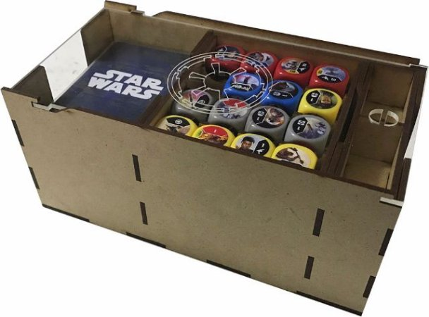 Porta Deck Star Wars Destiny (3 Decks) Tampa Acrílico