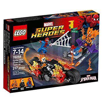 Lego, Marvel Super Herdes -HOMEM-ARANHA: MOTOQUEIRO FANTASMA REUNE FORCAS 76058