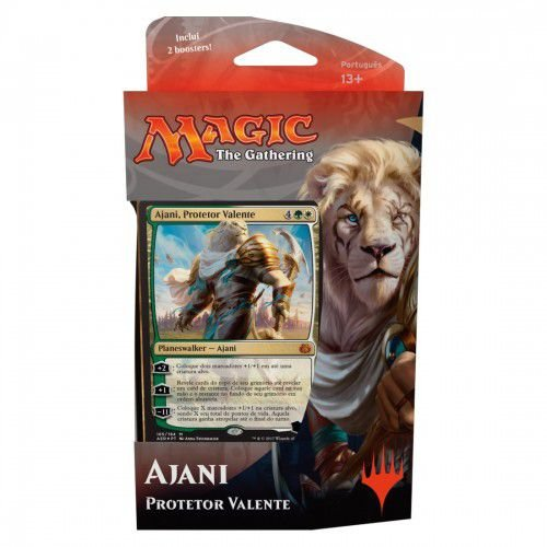 MAGIC TH GATHERING - REVOLTA DO ÉTER - DECK DE PLANESWALKER - AJANI (PROTETOR VALENTE )