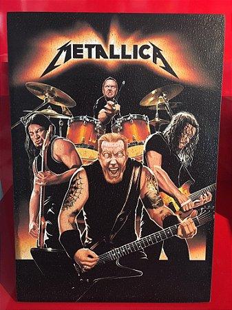 Quadro 30x20cm - Metallica