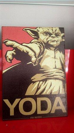 Quadro 30x20cm - Star Wars - YODA