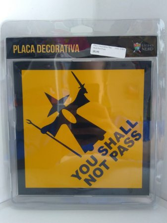 Placa Decorativa You Shall Not Pass