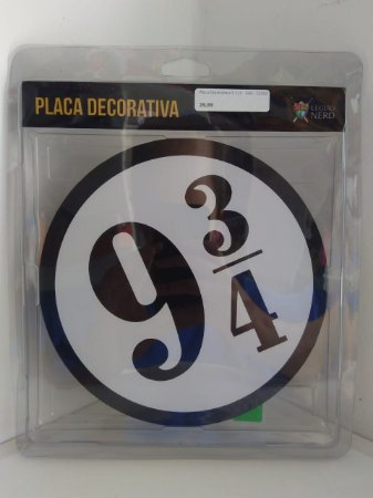 Placa Decorativa 9 3/4