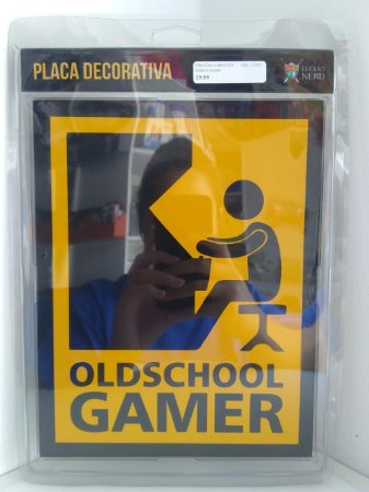 Placa Decorativa Old School Gamer