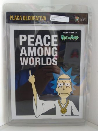 Placa Decorativa Peace Among Worlds