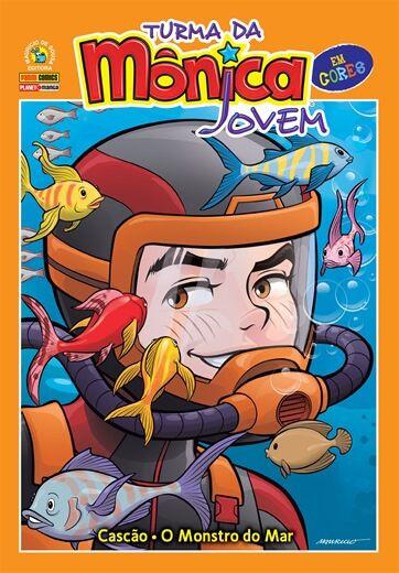 Turma da Mônica Jovem em cores - Volume 4 Cascão: O Monstro do mar