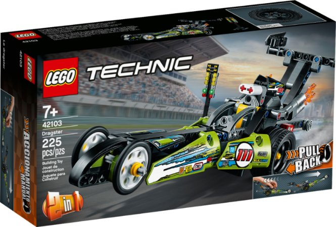 LEGO Technic Dragster, Kit de Construção (225 peças) - 42103