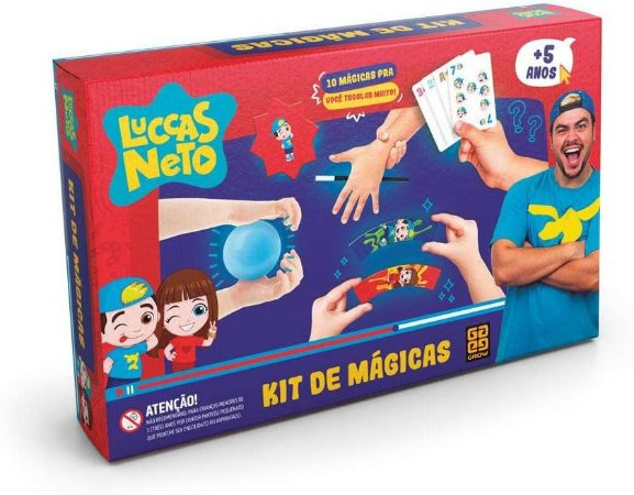 Kit de Mágicas Luccas Neto Grow