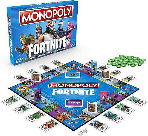 Jogo Monopoly Fortnite Hasbro Gaming Azul/vermelho/branco