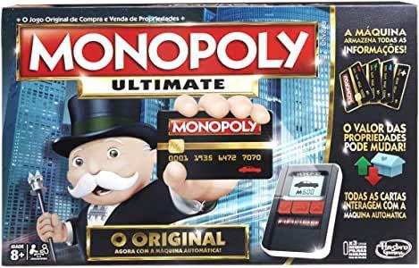 Monopoly Ultimate Hasbro Preto/Cinza