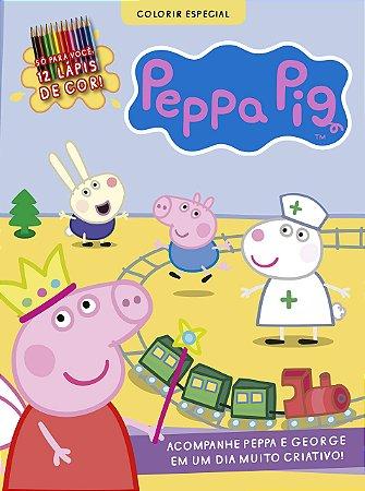Peppa Pig - Desenhos Para Colorir Especial (Português) Capa comum