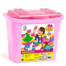 Blocos de Montar, Blocks Box, Cardoso Toys, Menina, 90 peças