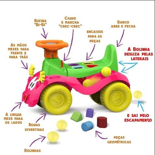 Veículo Para Bebê, Cardoso Toys, Totokinha Bolinha, Menina