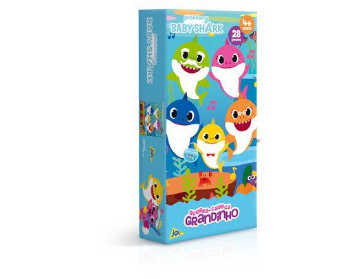 Quebra-cabeca 28 Peças Grandinho Baby Shark Toyster Brinquedos