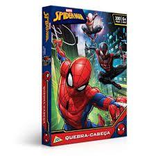 Quebra-Cabeça Cartonado Spider-Man 100 Peças