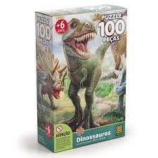 Quebra-cabeca Cartonado Dinossauro 100 Pcs - 01 Unidade Grow