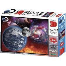 Quebra Cabeça Super 3D Espaço C/500 Peças BR1062