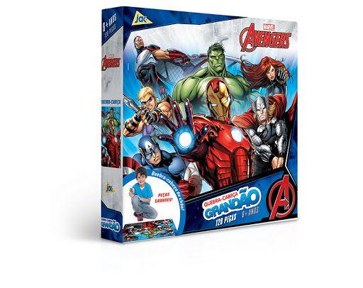 Os Vingadores - Quebra-cabeça 120 peças grandão