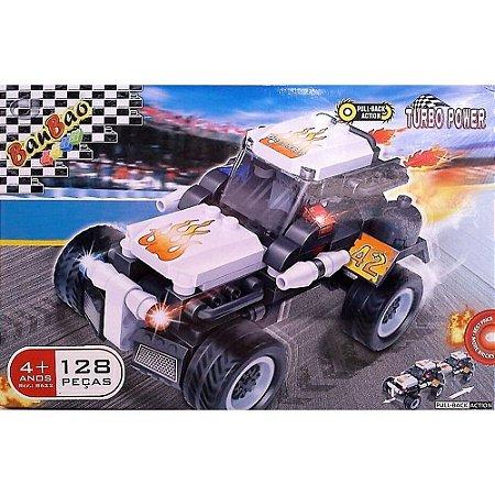 Corrida carro dragster 128pcs.