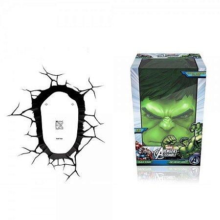 Luminária Rosto Hulk, 3D Light FX, Verde