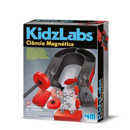 Brinquedo STEM Ciência Magnética Kidzlabs 4M Educativo