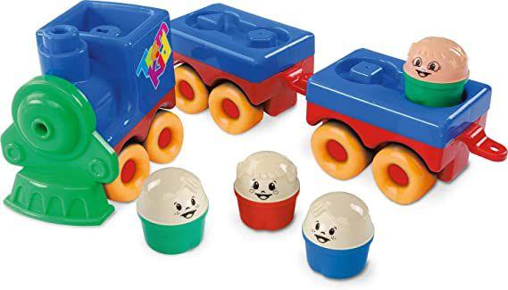 Brinquedo Educativo Trem Kid de Encaixar 44 Cm, Dismat