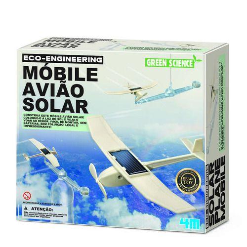 Brinquedo Cientifico Eco Engenharia Mobile Aviao Solar 4m