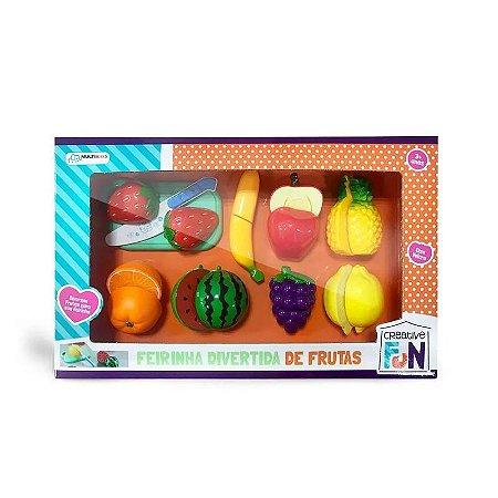 Creative Fun Feirinha Divertida de 8 Frutas Com Velcro Indicado para maiores de 3 Anos Multikids