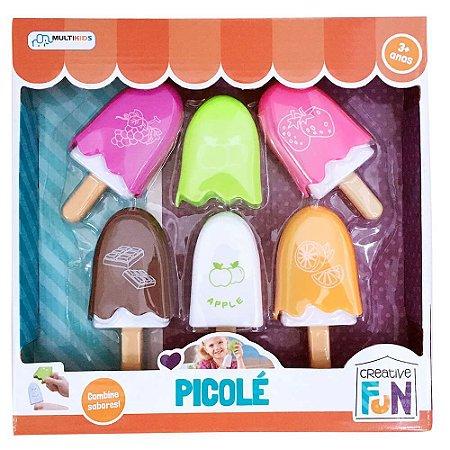 Creative Fun Picolé Indicado para +3 Anos Colorido Multikids - BR644