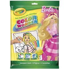 Crayola - Color Wonder Barbie 4 Canetas