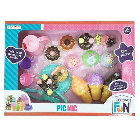 Creative Fun Pic-Nic Indicado para +3 Anos Colorido Multikids - BR650