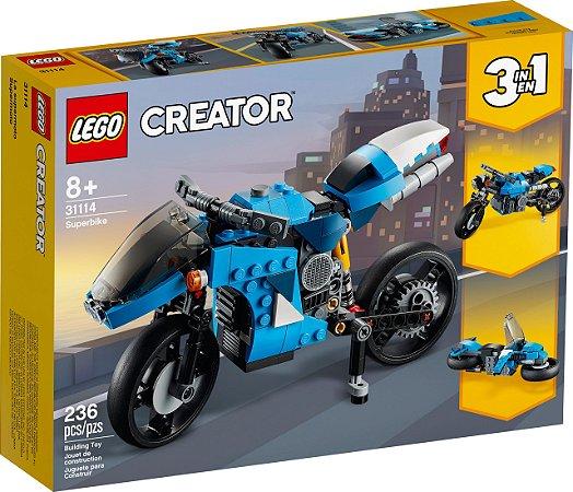 LEGO Creator Supermoto 3 em 1 - 31114