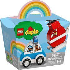 LEGO Duplo-Helicóptero dos Bombeiros e Carro da Polícia10957