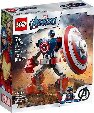 LEGO Marvel Avengers-Robô do Capitão América 121 Peças 76168