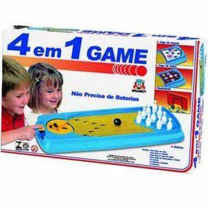 Jogo 4 em 1 Game Braskit Azul