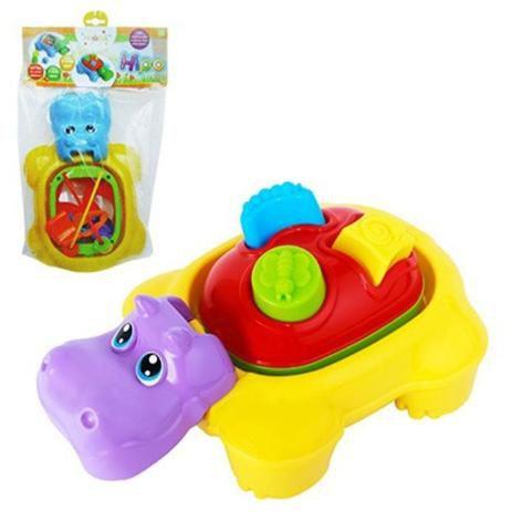 Baby Didático Mini Bloco de Encaixe Hipopótamo - Maral