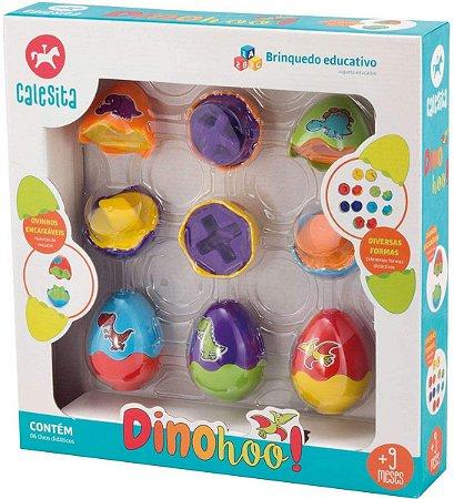 Brinquedo Educativo Dinohoo com 06 Ovos Didáticos Calesita por Calesita