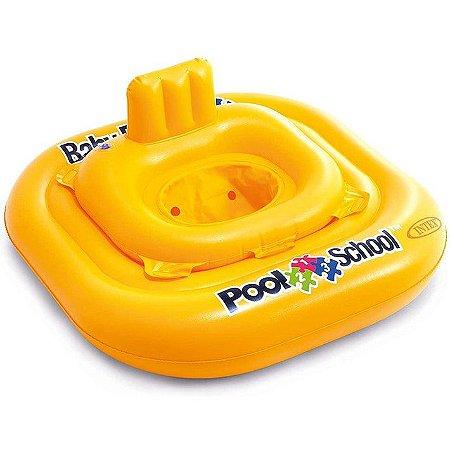 Baby Bote Pool School de Luxo Intex Amarelo
