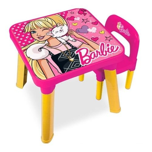 Mesa com Cadeira Barbie Rosa