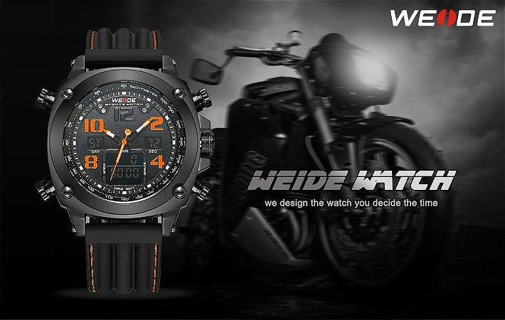 Marca De Luxo WEIDE Homens Esportes Relógios men Quartz Digital LED Assista Militar Casual Ao Ar Livre Relógios de Pulso Relogio masculino