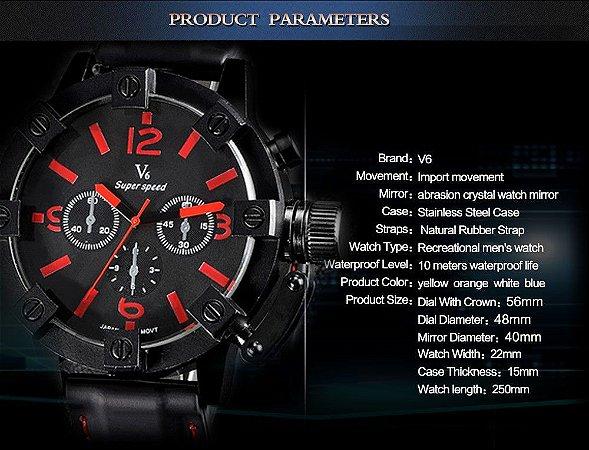 Novo Relógio Dos Homens Do Esporte Militar Relógios Marca de Moda Relógio de Quartzo Ocasional Relógio preto à prova d' água Homens relógio de Pulso Relogio masculino