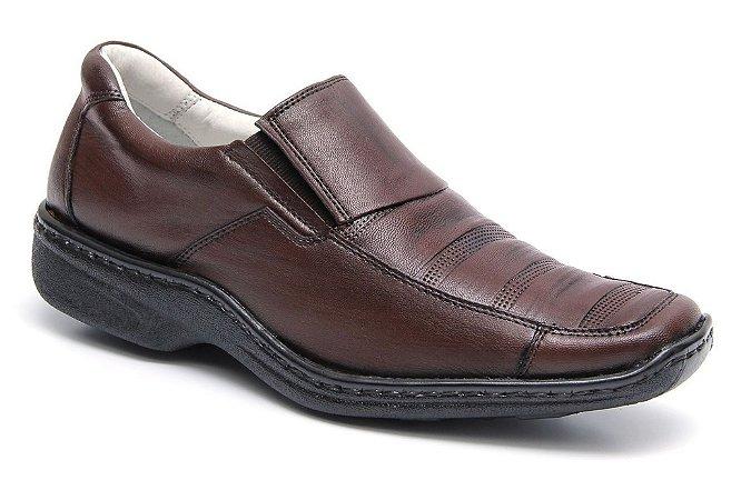 Sapato Confortável Marrom Palmilha Gel Mafisa Calçados
