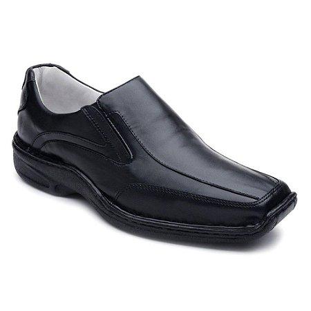 Sapato Confortável Preto Bico Quadrado Ranster