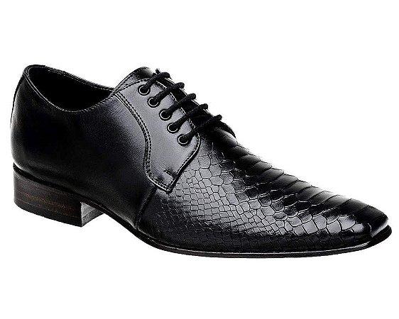 Sapato Social Masculino em Couro Croco Bigioni
