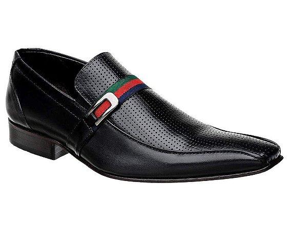 Sapato Social Masculino Couro Preto Bigioni