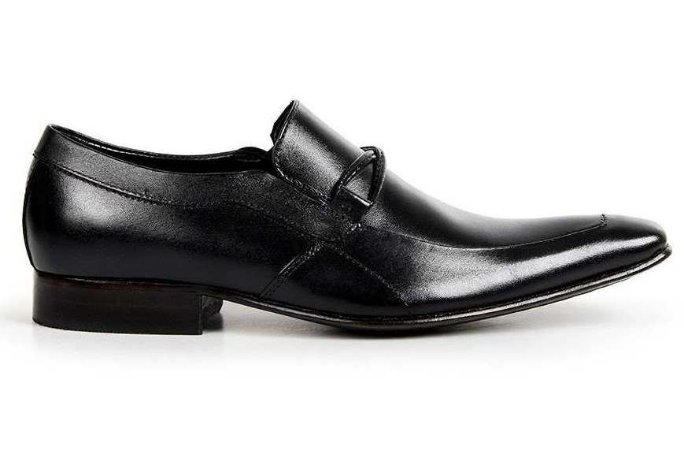 Sapato Preto Social  Masculino Couro Bigioni